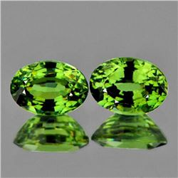 Natural Oval Fire Green Demantoid Pair - FL