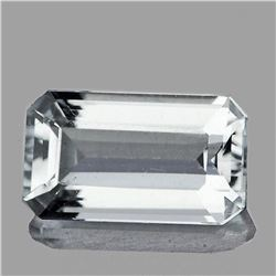NATURAL BRILLIANT WHITE AQUAMARINE 12x7 MM