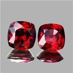 Natural AAA Fire Red Rhodolite Garnet Pair 6.50 MM - FL