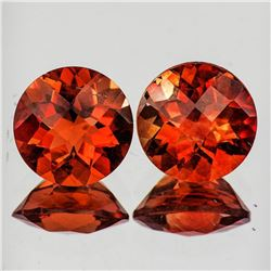 Natural Orange Red Andesine Pair [Flawless-VVS]