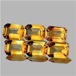 NATURAL GOLDEN YELLOW CITRINE 8x6 MM - FL