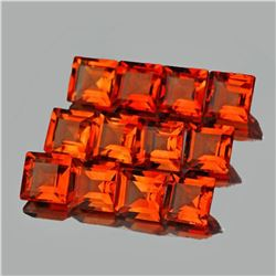 Natural Mandarin Orange Spessartite Garnet 12 Pcs - VVS