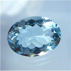 Natural Sky Blue Aquamarine 7.29 Cts {Flawless-VVS1)