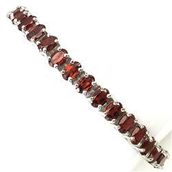 Natural  Mozambique Garnet 112 Cts Bracelet