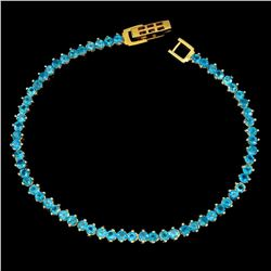 Natural Brzail Blue Rare Apatite Bracelet