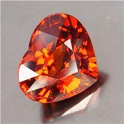 Natural Orange Spessartite Heart 2.06 ct - VVS