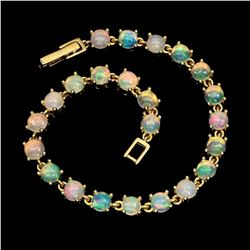 Natural Unheated Round White Opal 63.74 Ct Bracelet