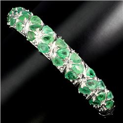 Natural Top Rich Green Emerald 130.48 Ct Bangle