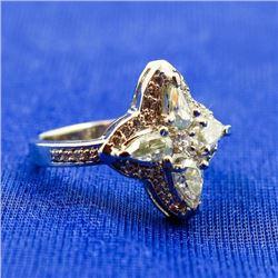 Amazing 3.52 Ct Ice Green Diamond Ring