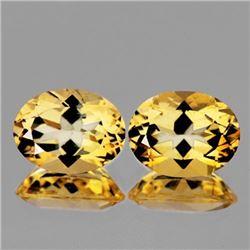 NATURAL GOLDEN YELLOW CITRINE Pair 16x12 MM - FL