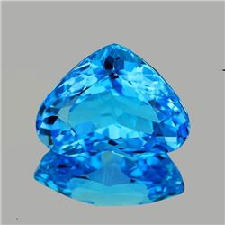 Natural AAA Swiss Blue Topaz Heart 16x13 MM - Flawless