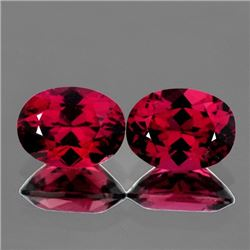 Natural Pink Red Rhodolite Garnet Pair - Flawless