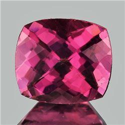 Natural Cushion Checker Raspberry Pink Rhodolite Garnet