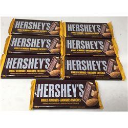 Hersheys Whole Almond Chocolate Bars (7 x 100g)