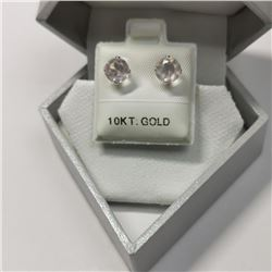 10K Yellow Gold Rose Quartz(1.6ct) Earrings, Made in Canada, Suggested Retail Value $200 (Estimated