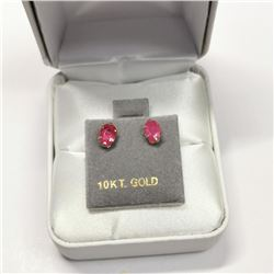10K Yellow Gold Ruby(0.6ct) Earrings, Made in Canada, Suggested Retail Value $300 (Estimated Selling