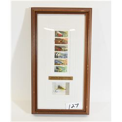 Canada Fishing Fly Stamps Framed