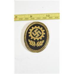 German Labour Front Medal & Cloth Cap Insignia