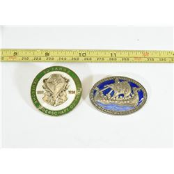 2 Nazi Enamel Badges Reproductions
