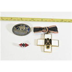 One SS Medal, 1 Nazi Cross Medal