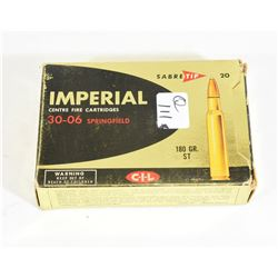 20 Rounds Imperial 30-06 Sprg 180grn