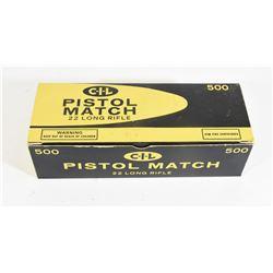500 Rounds CIL 22LR Pistol Match