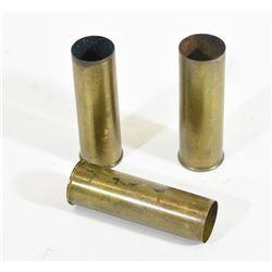 Three 12ga Brass Hulls