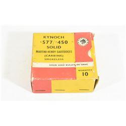 10 Rounds Kynoch 577/ 450