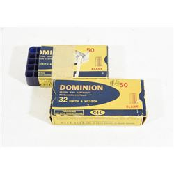 88 Rounds 32S&W Dominion Blanks