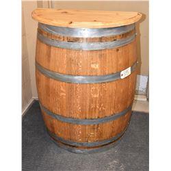Napa Valley Oak 1/2 Barrel Table with Cedar Top