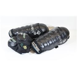 Shin Pads 15.5 and Bauer Elbow Pads