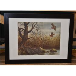 WoodCock Print Framed and Mounted