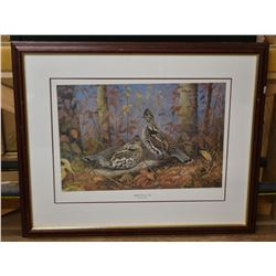 """Ruffed Grouse Pair""  Signed Print by Jim Foote"