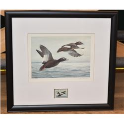 1988 North Dakota Duck Stamp and Print