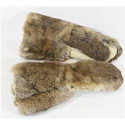 Large Pair Rabbit Fur Gloves