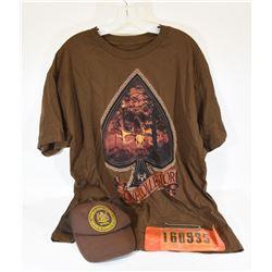Hat, Shirt, Vintage Hunting License