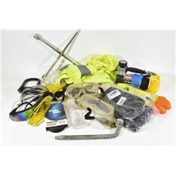 Box Lot Safety Equipment and Tools