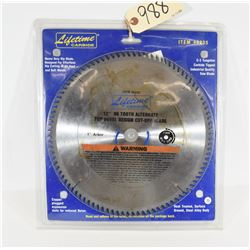 "Lifetime Carbide 12""x96th Saw Blade New in Package"