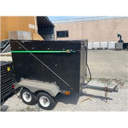 1996 UBILT TANDEM AXLE UTILITY TRAILER, BLACK, 5' LONG, VIN#NIL, ICBC INFORMATION NOT AVAILABLE,