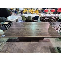"LARGE WOOD TABLE APPROX. W 47""  L 94.5""  H 30"""