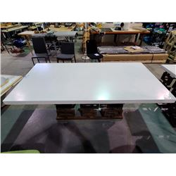 "LARGE WHITE TABLE APPROX. W 39.5"" L 79"" H 30.5"""