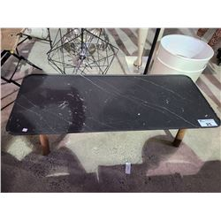 "COFFEE TABLE VISIBLE DAMAGE APPROX. W 20.5"" L 47"" H 14"""