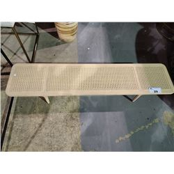 "SHOE BENCH APPROX. W 12.5"" L 55"" H 8"""