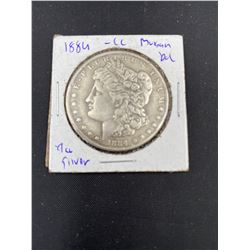 1884 MORGAN SILVER DOLLAR  CC