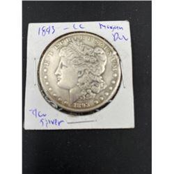 1893 MORGAN SILVER DOLLAR  CC