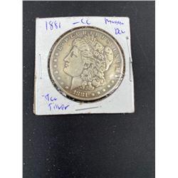 1881 MORGAN SILVER DOLLAR  CC