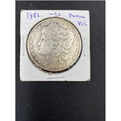 1892 MORGAN SILVER DOLLAR  CC