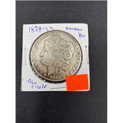 1878 MORGAN SILVER DOLLAR  CC