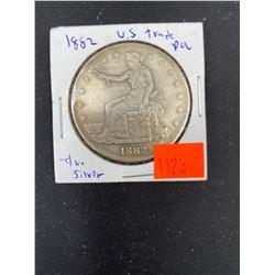 1882 US TRADE SILVER DOLLAR