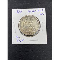 1850 SEATED HALF DOLLAR
